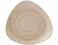 Stonecast Nutmeg Beige Triangel Teller flach 19.2cm