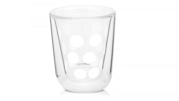 Dot Dot Espressoglas weiss, doppelwandig 7.5 cl