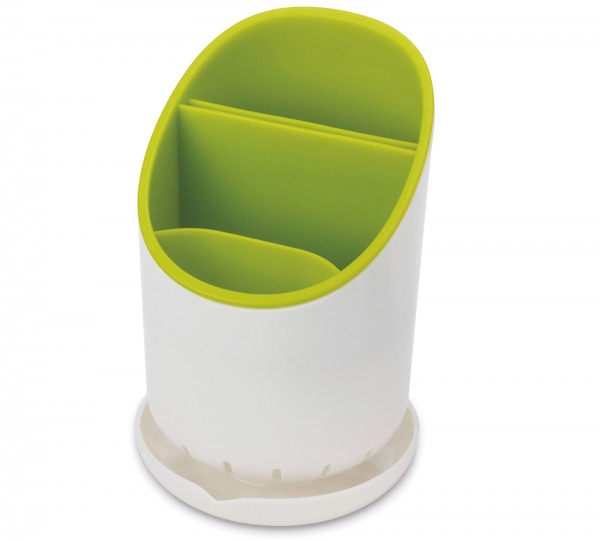 Dock Abtropfbehälter f. Küchenhelfer, weiss/grün, 12x19 cm
