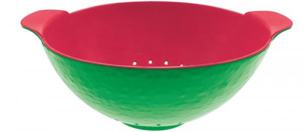 Duo Sieb oval grün/grapefruit, 27×17 cm
