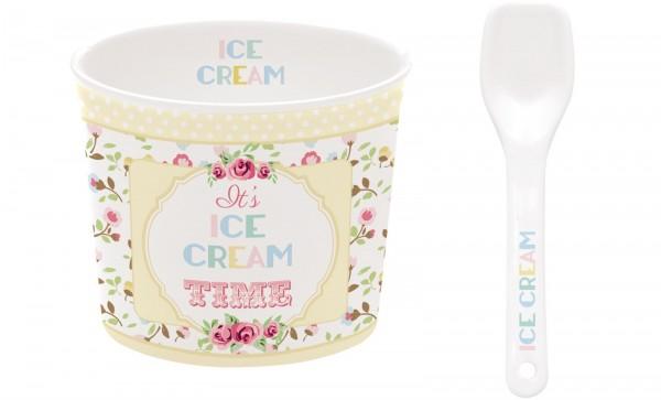 Time for Ice Cream Porzellan Eisbecher, gelb, Ø 8.5 cm in GB