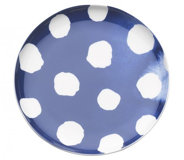 Indigo Appetizer Teller, Punkte, b/w, Ø 15.5 cm