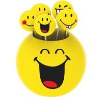 Smiley Party Picks 5er-Set, Emoticon assortiert