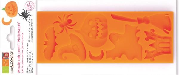 8er Silikonbackform Halloween, 16x6x0.9 cm