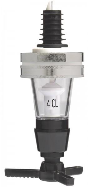 Spirituosen-Dosiergerät einzeln Metall auf Karte 4cl