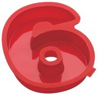 Zahlen Backformen Nummer 6, rot