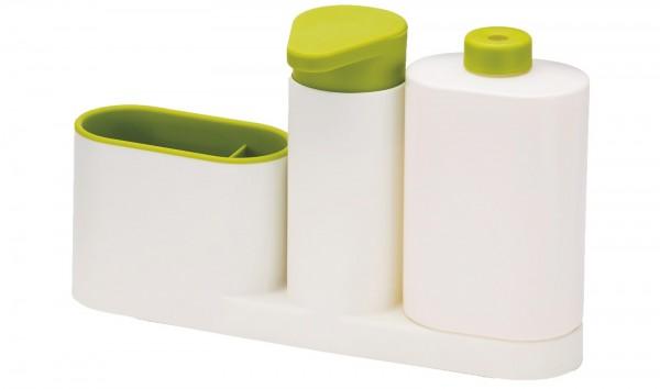 SinkBase Plus 3-tlg., weiss/grün, 27x6x16.5 cm