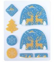 """Schokoladenform """"Weihnachten"""" blau"""