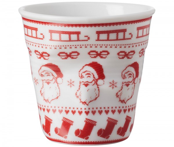 6x Cappuccino Knitterbecher 18 cl, Santa
