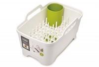 Wash&Drain Waschbehälter u. Abrtopfset, weiss/grün