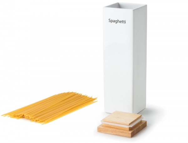 Vorratsdose mit Holzdeckel und Silikonring, 10x10x34cm
