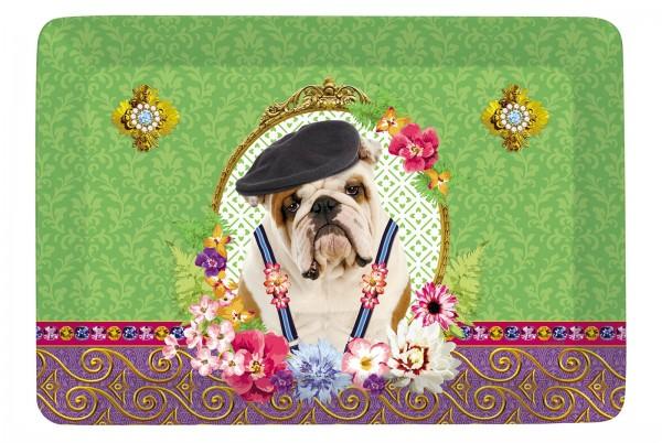 """Fancy Animals """"Bulldogge"""" Tablett 21.5x16 cm"""