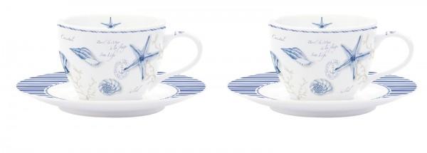 Mistral 2er Set Espressotasse m. Untertasse in GB, 110 ml