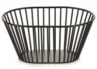 Korb oval hoch, schwarz, 19.7x14.7x9.3 cm