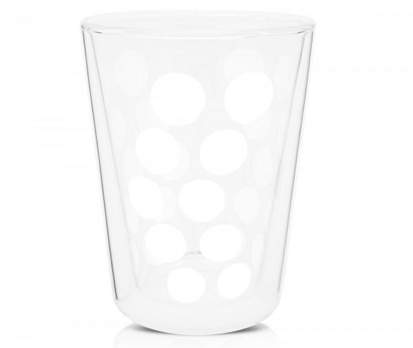 Dot Dot Teeglas weiss, doppelwandig 35 cl