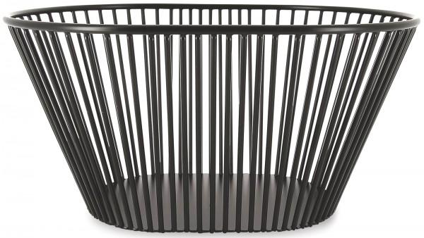 Korb rechteckig hoch, schwarz, 32.1x23.9x15.5 cm