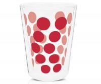 Dot Dot Teeglas rot, doppelwandig 35 cl