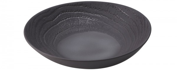 Suppenteller rund, H: 3.5 cm, Ø 16 cm, Lakritze