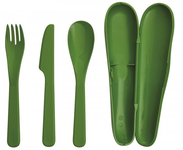 Recycled & Recyclable Besteck-Set, grün
