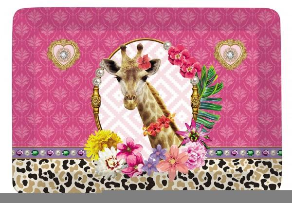 "Fancy Animals ""Giraffe"" Tablett 21.5x16 cm"
