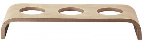 Event Holzplattform niedrig hellbraun