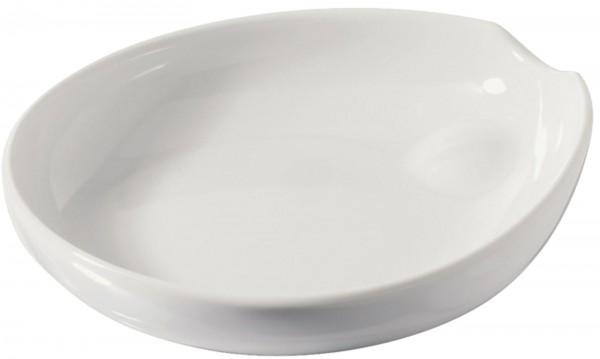 6x Platte Crème Brûlée, 14.5x13 cm, weiss