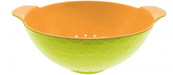 Duo Sieb oval kiwi/orange 27×17 cm
