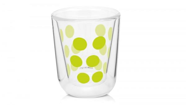 Dot Dot Espressoglas grün, doppelwandig 7.5 cl