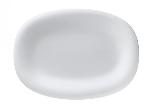 Fluen Platte oval L: 32cm weiss