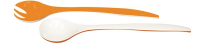 Duo Salatbesteck orange/weiss 22 cm