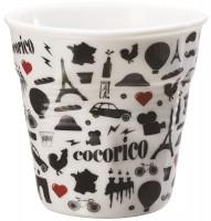 "Espresso Knitterbecher 8 cl, ""I love France"""