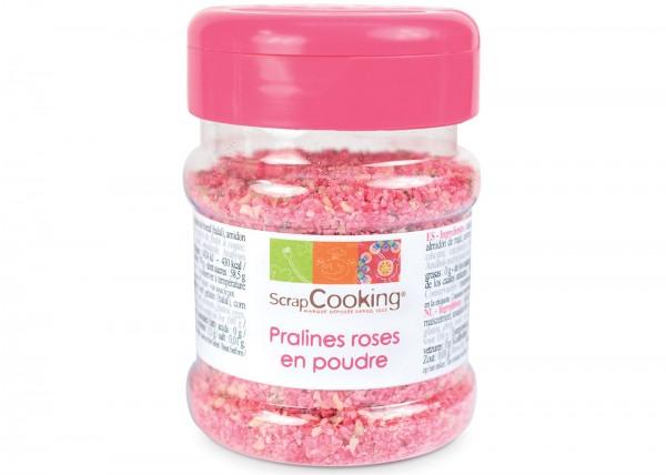 Dekopralinen Rose, Pulver, pink, 130 g