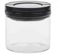 Fliplock Glassbehälter klein, schwarz, 10.6x10.6x10.4 cm