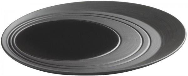 4x Teller rund, Ø 28 cm, Gusseisen-Optik