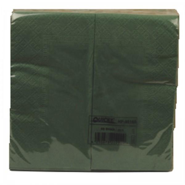 1'280 Stk. Servietten grün 33x33cm 2-lagig 1/8 Falz
