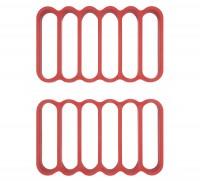 2er Set Grillrost für Pfanne, Silikon, 21x12.5x2 cm