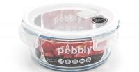Pebbly Glas Vorratsdose m. Ventil, rund 95 cl