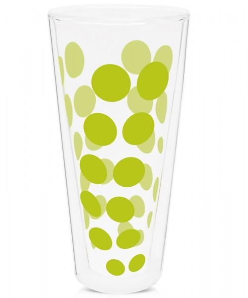 Dot Dot Latte Macchiato grün, doppelwandig 35 cl