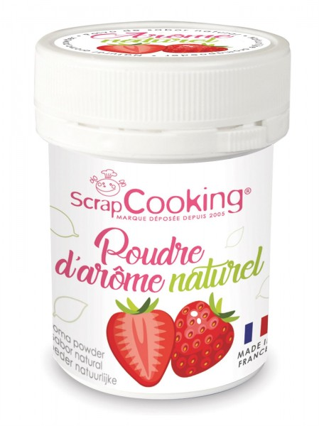 Natur Aroma-Farbpulver, Erdbeere, 15 g