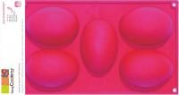 5er Silikonbackform Eier