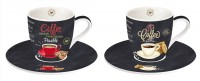 It's coffee time 2er Espresso Obertasse m. Untertasse 90 ml