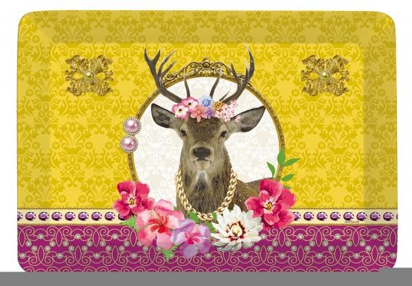 "Fancy Animals ""Hirsch"" Tablett 21.5x16 cm"