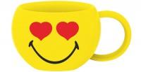 Smiley Espressotasse, Emoticon Love 10cl