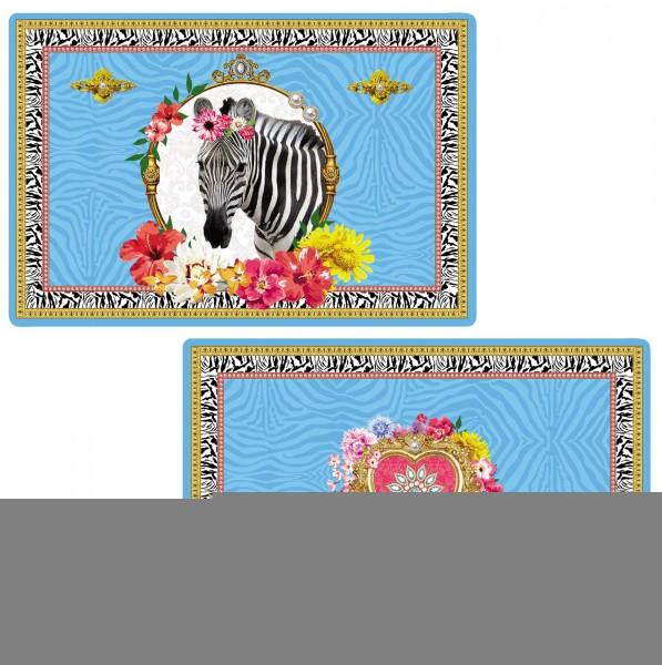 "Fancy Animals ""Zebra"" Tischset doppelseitig 45x30 cm"