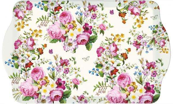 Blooming opulence Tablett m. Griffen 46x32 cm