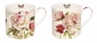 Fleurs Porzellanbecher 350 ml 2er Set in GB