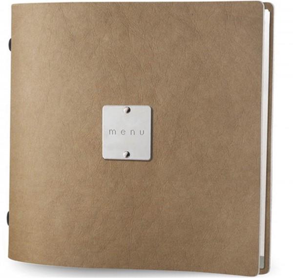 """Menükarte MM quadr, bind Eco natur Metallschild """"menu"""""""