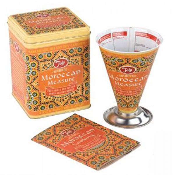 Marokko Messbecher in Dose, Marakesch, Orange