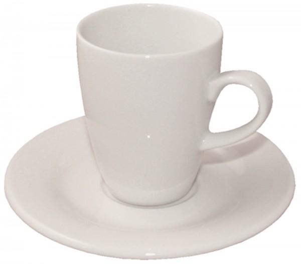 6x Lipari Espressotasse mit Untertasse, 12 cl, weiss