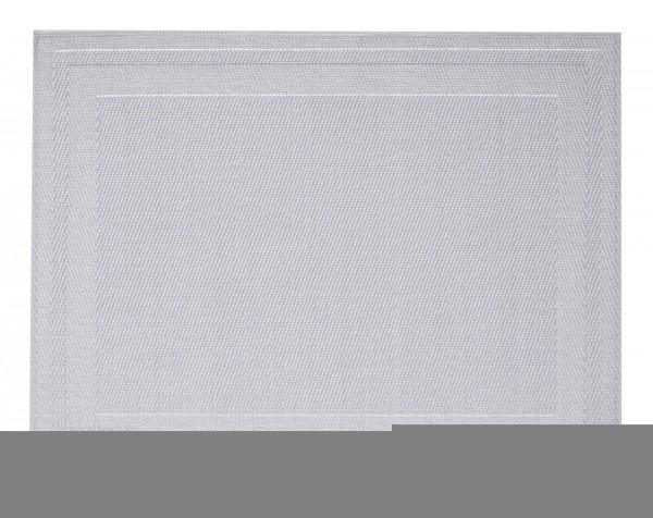 """Tischset """"Rahmen"""", eckig, silber, 32x42 cm"""